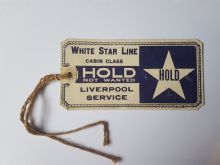 White Star Line Baggage Tag